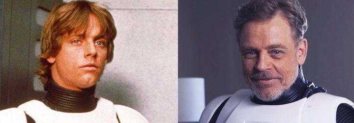 Mark Hamill recupera el traje de Stormtrooper unas décadas después