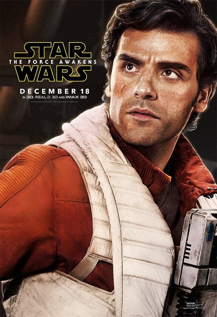 Imagen de Oscar Isaac en 'Star Wars: El despertar de la Fuerza'