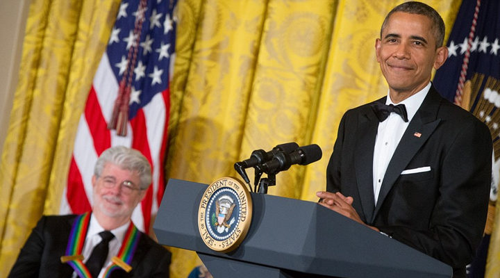 George Lucas y Barack Obama