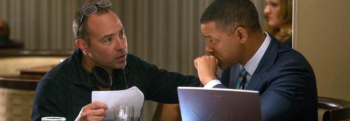 El director y el protagonista de 'La verdad duele' durante el rodaje del film