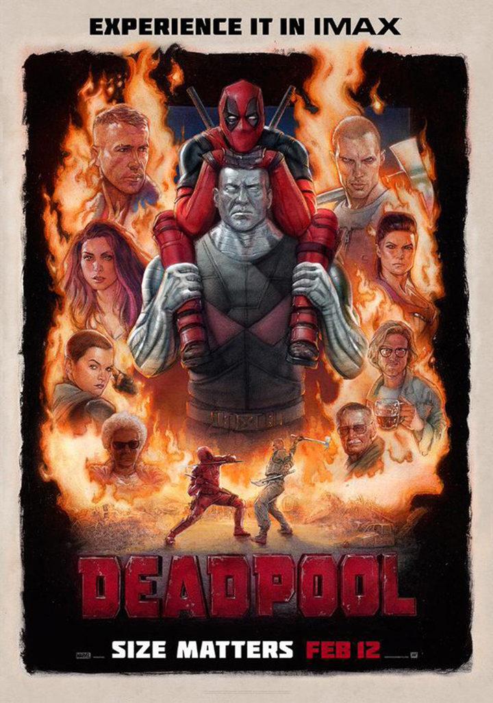 Cartel de Deadpool IMAX