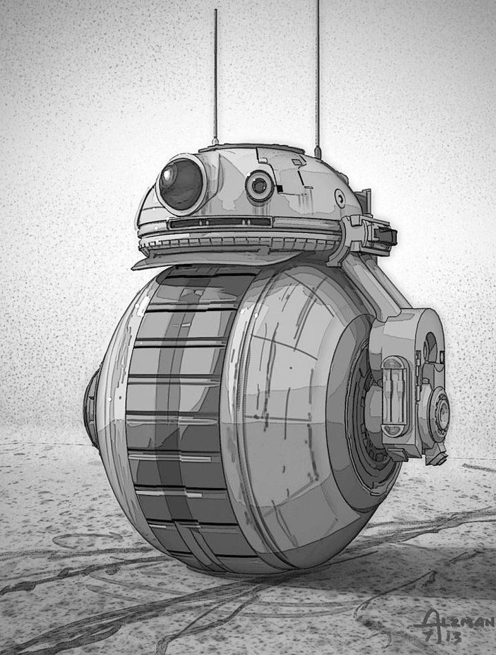 Primer boceto del diseño de BB-8