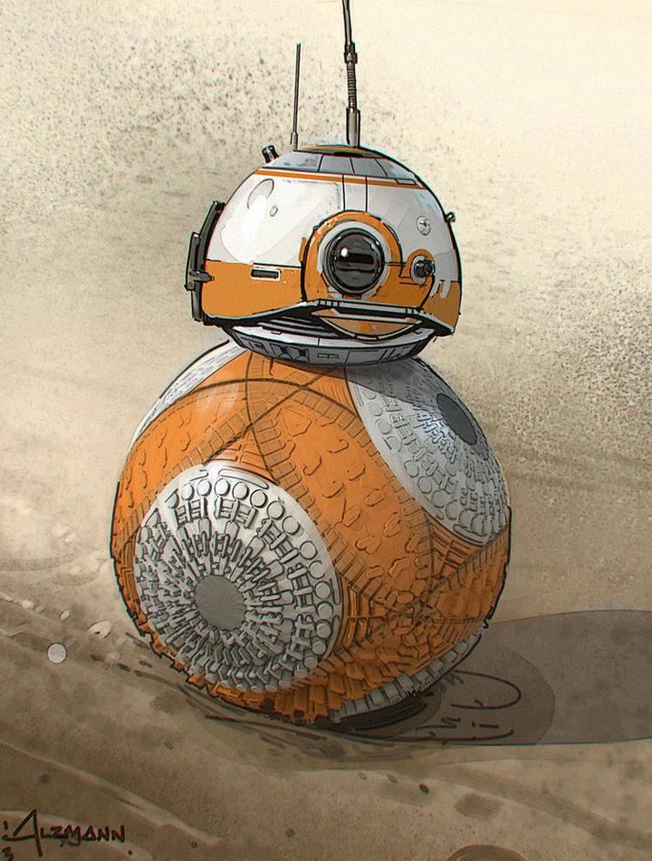 Tercer boceto del diseño de BB-8