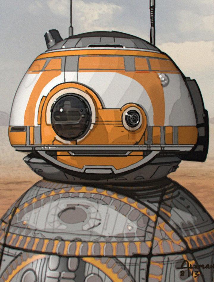 Segundo boceto del diseño de BB-8