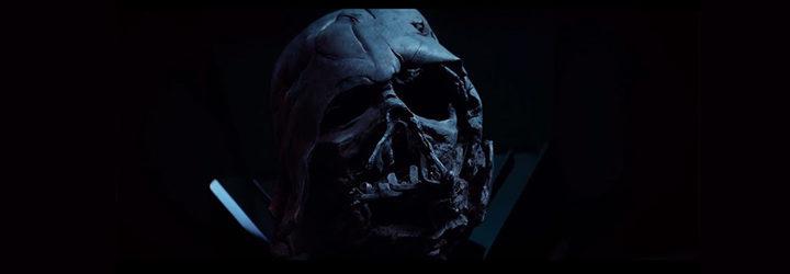 La máscara de Darth Vader en la película