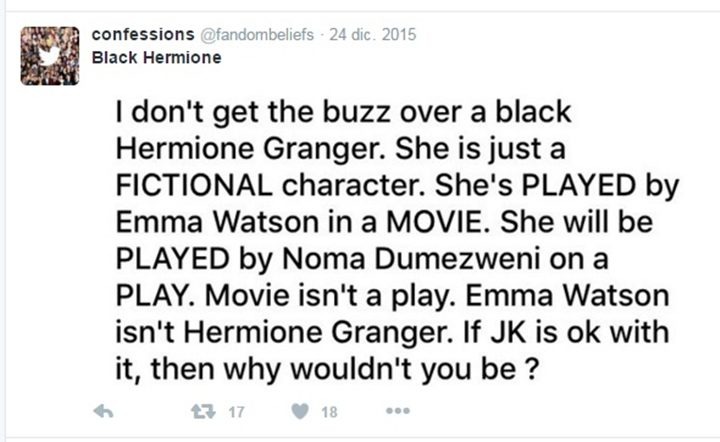 Emma Watson apoya a la Hermione negra de 'Harry Potter and the Cursed Child'