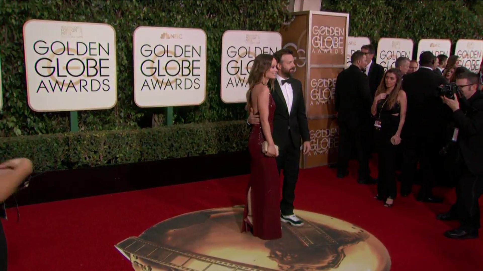 Olivia Wilde y Jason Sudeikis en la alfombra roja