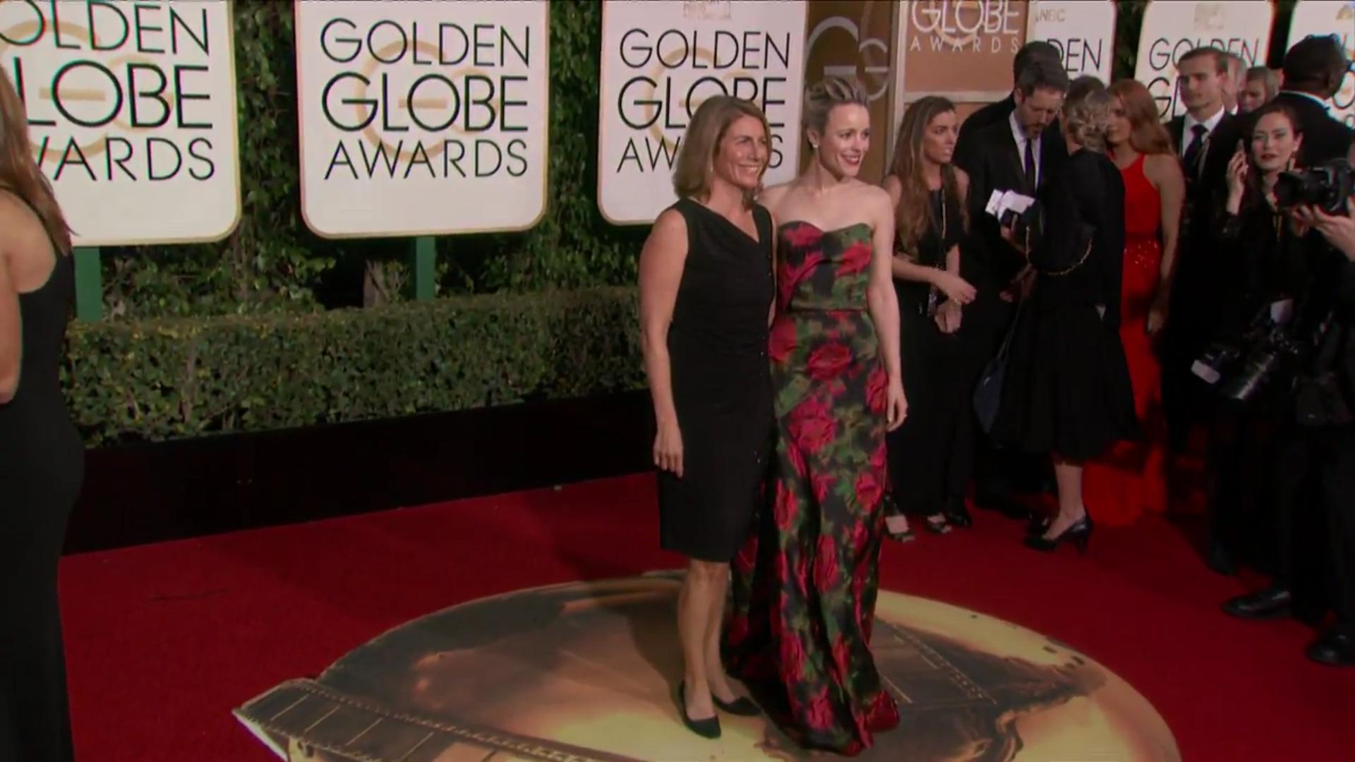 La actriz Rachel McAdams llega a la gala