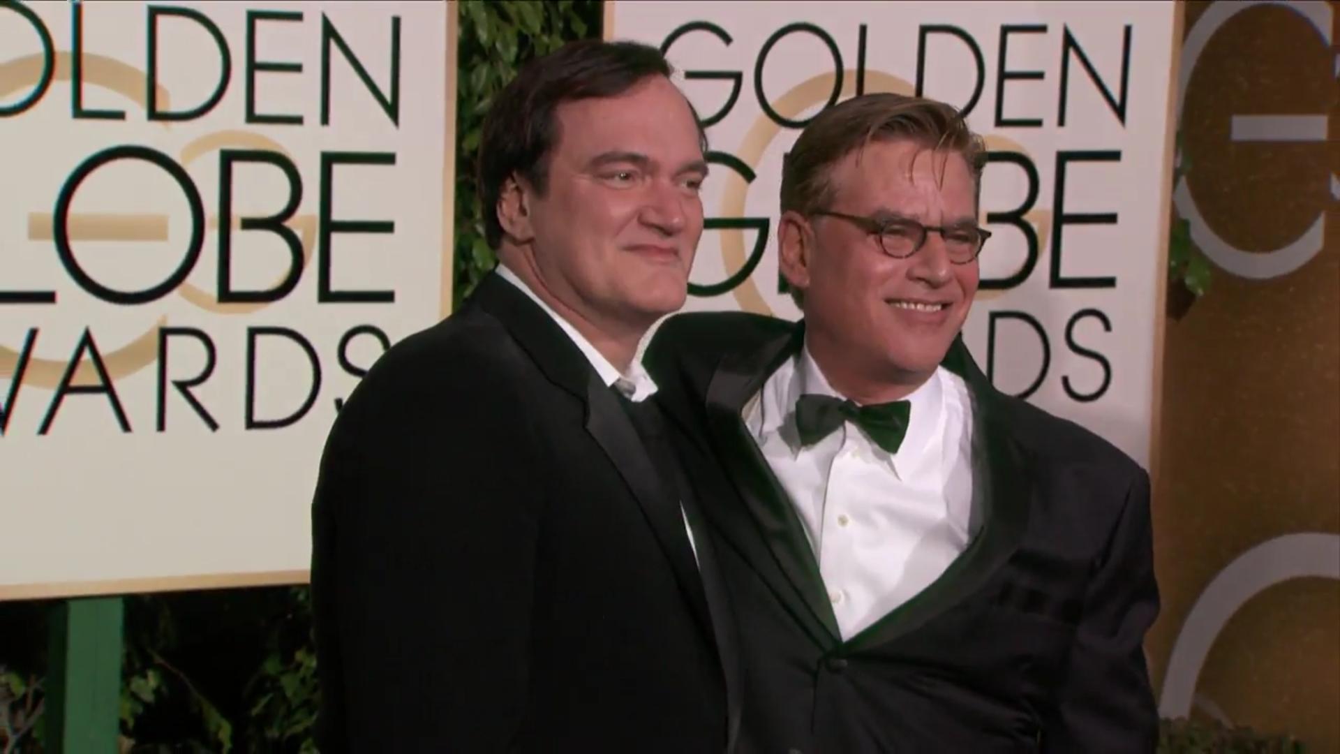Quentin Tarantino y Aaron Sorkin juntos en la alfombra roja