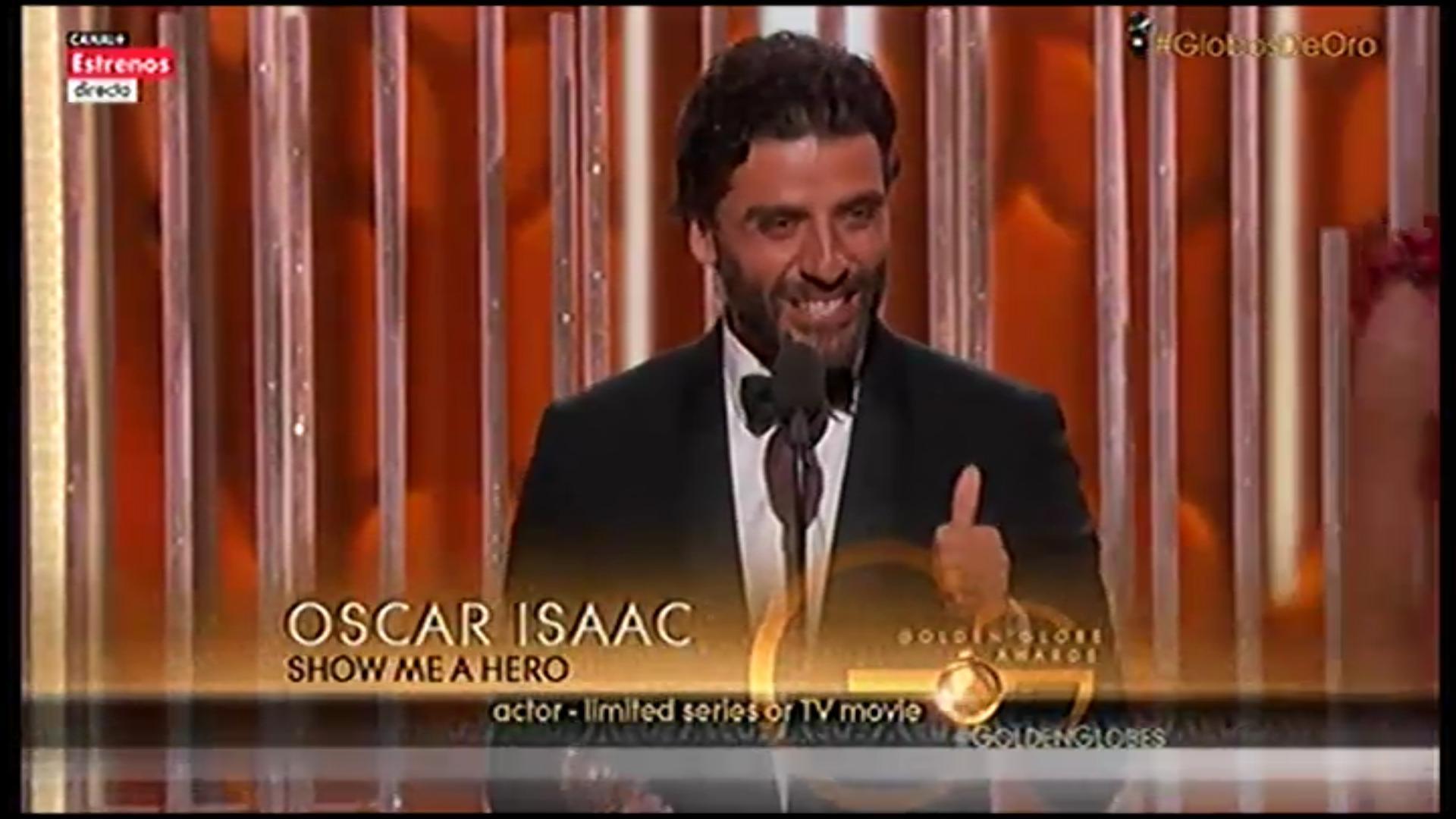 Oscar Isaac recoge el premio por 'Show Me A Hero'