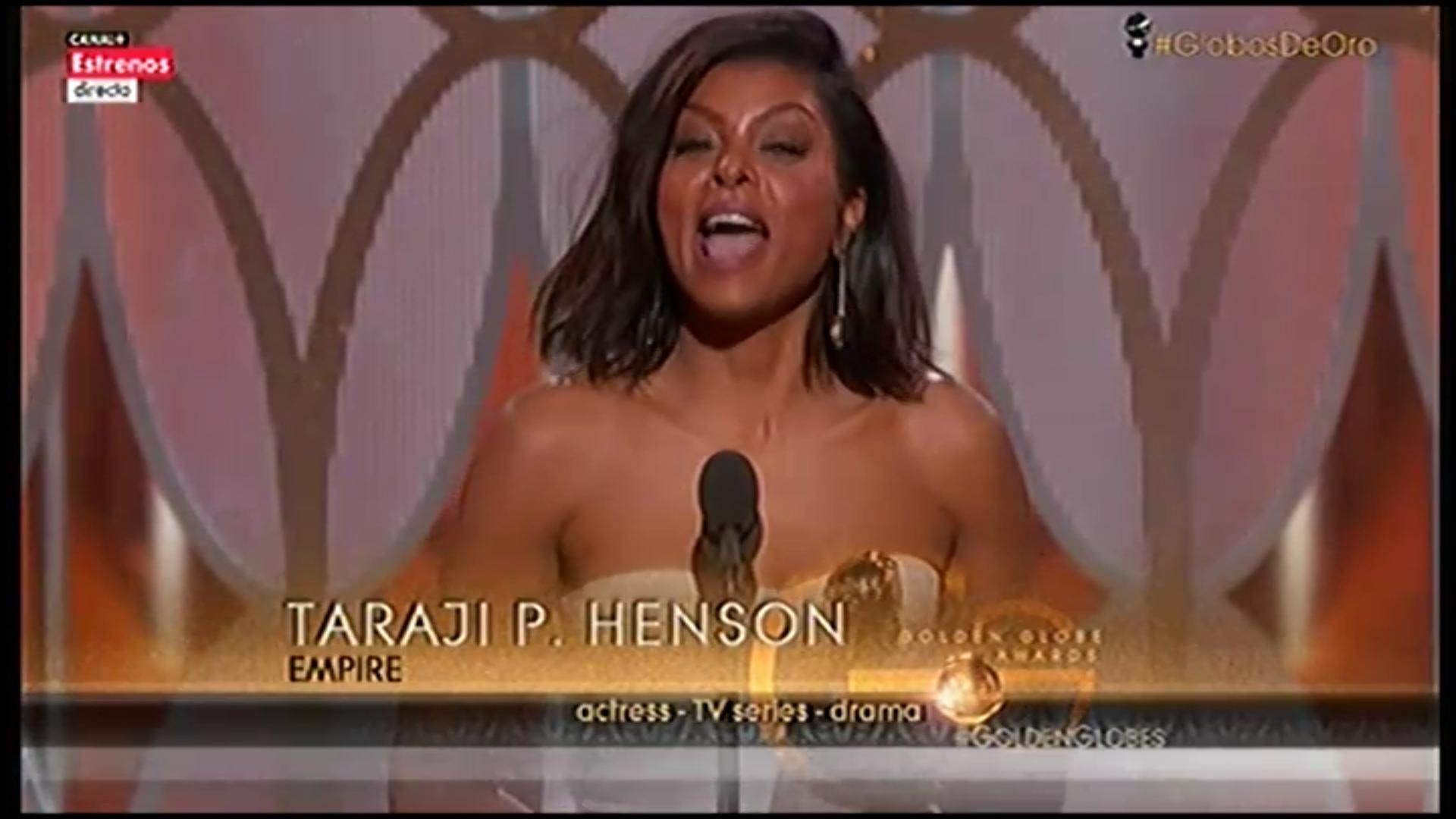 Taraji P. Henson recoge el Globo de Oro por 'Empire'