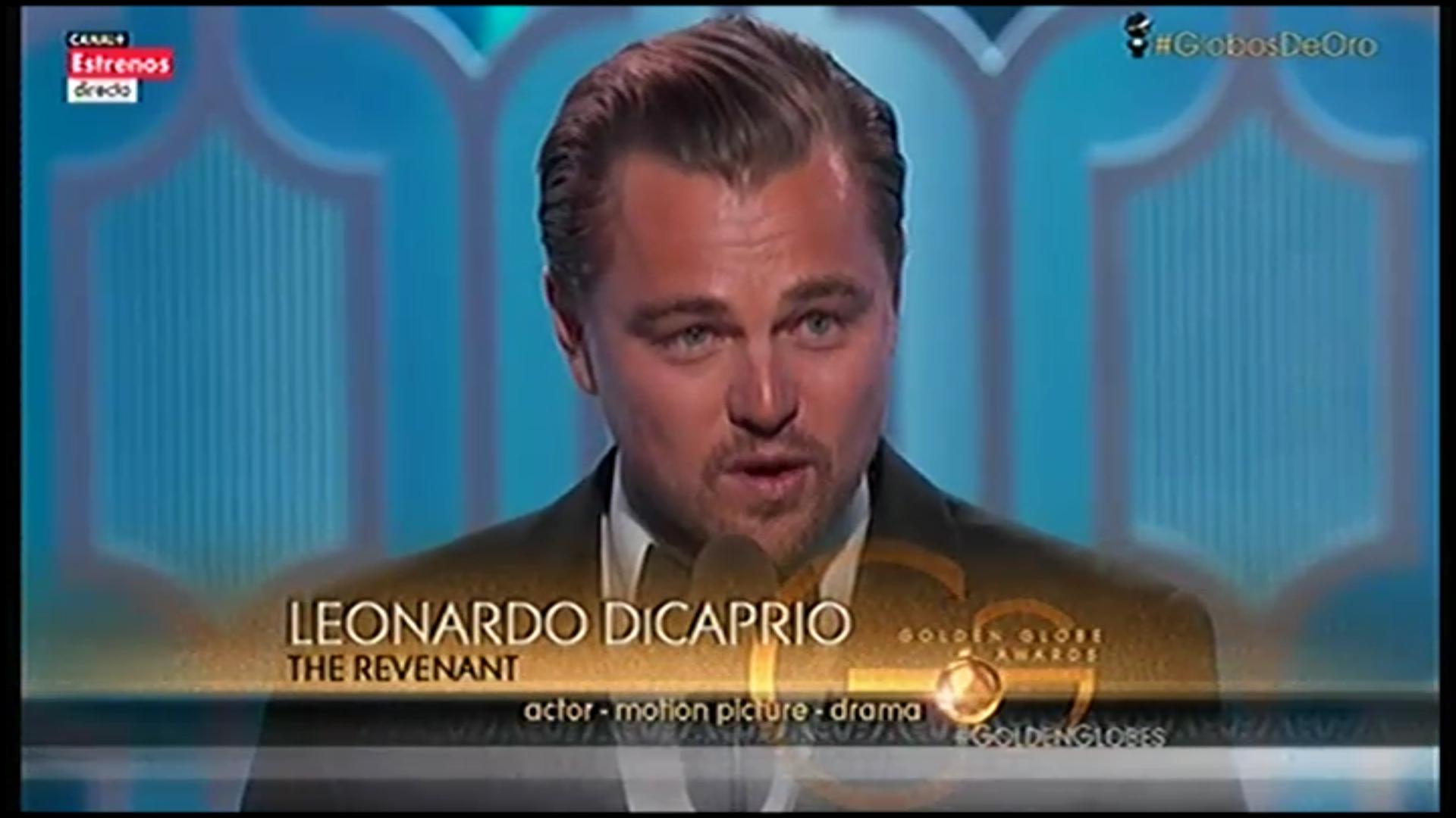Leonardo DiCaprio recoge su Globo de Oro