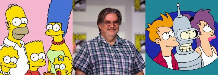 Los Simpson, Matt Groening y Futurama