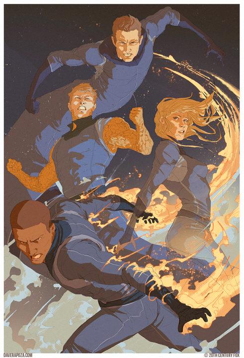 ilustración de los Cuatro Fantásticos juntos