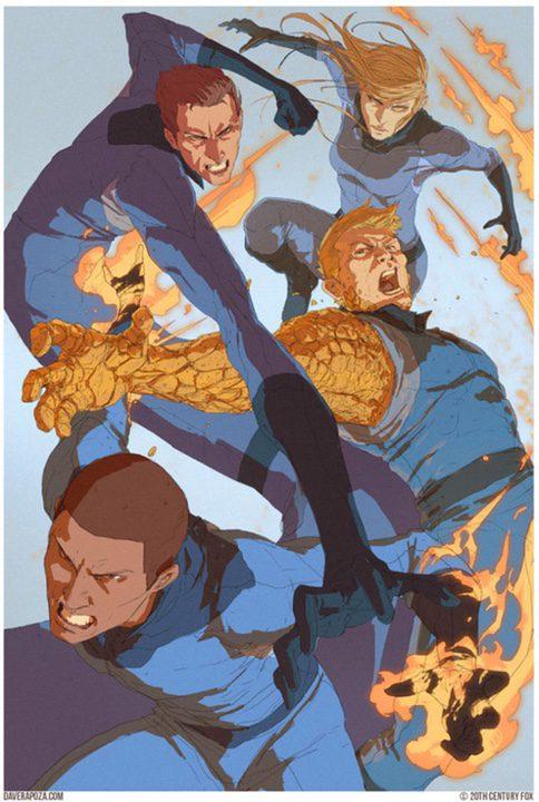 Ilustración de los Cuatro Fantásticos