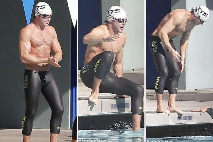 Zac Efron luce musculos entrenando para 'Los vigilantes de la playa'