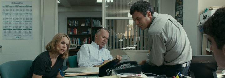 Rachel McAdams, Mark Ruffalo y Michael Keaton en 'Spotlight'