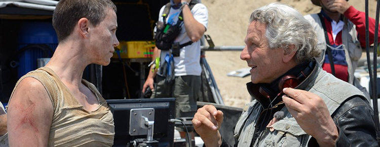George Miller y Charlize Theron