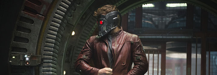 Chris Pratt en una secuencia de Guardianes de la Galaxia
