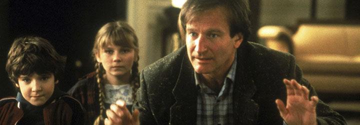 Robin Williams junto a Kirsten Dunst y Bradley Pierce
