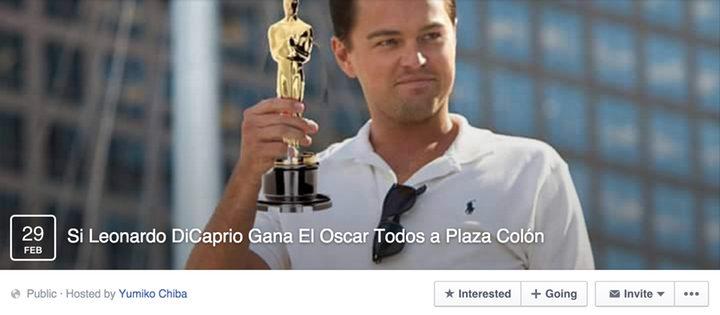 evento DiCaprio en Facebook