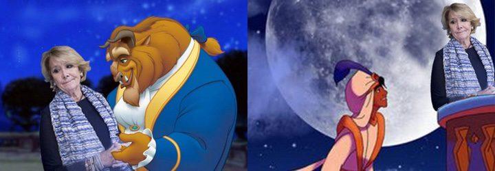 Esperanza Aguirre como princesa Disney