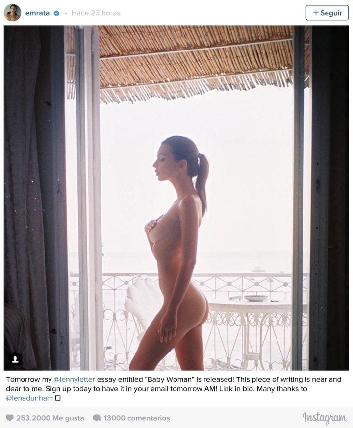Emily Ratajkowski Se Desnuda En Instagram Para Apoyar A Lena Dunham