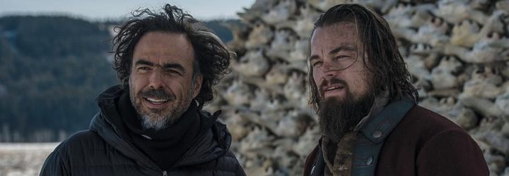 Alejandro G. Iñárritu y Leonardo DiCaprio en el set de 'El renacido'