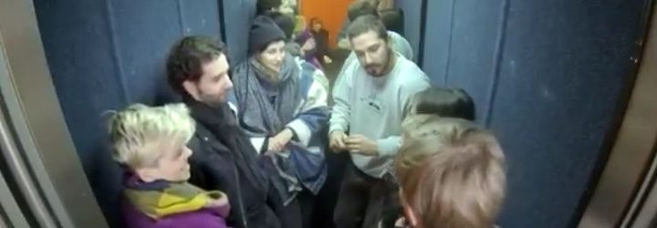 Shia LaBeouf en un ascensor