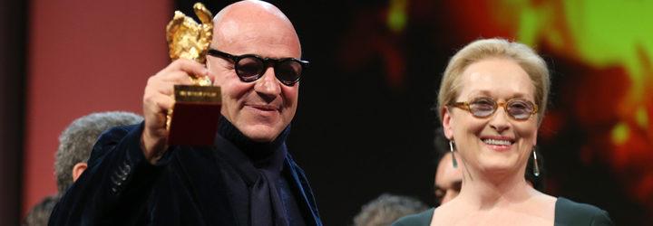Gianfranco Rosi y Meryl Streep