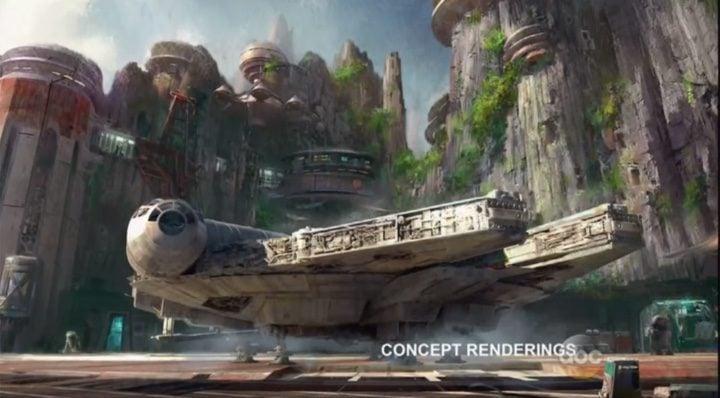Halcón Milenario en el Parque temático de 'Star Wars'