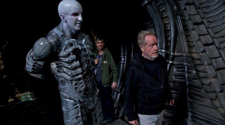 Ridley Scott en la producción de 'Prometheus'
