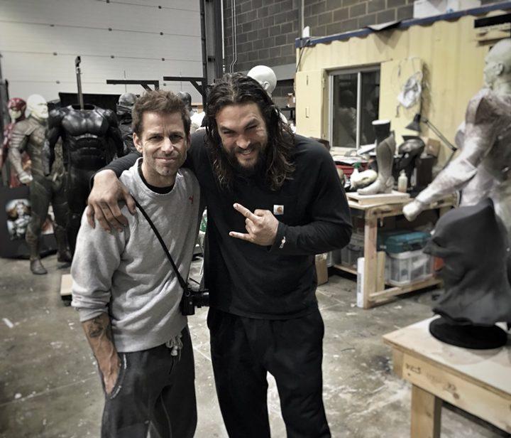 La Liga de la Justicia. Zack Snyder y Jason Momoa
