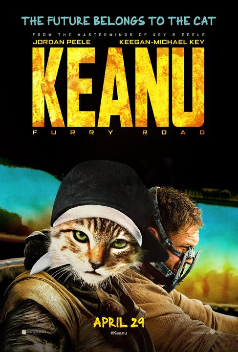 Keanu en el cártel de 'Mad Max: Furien en la carretera