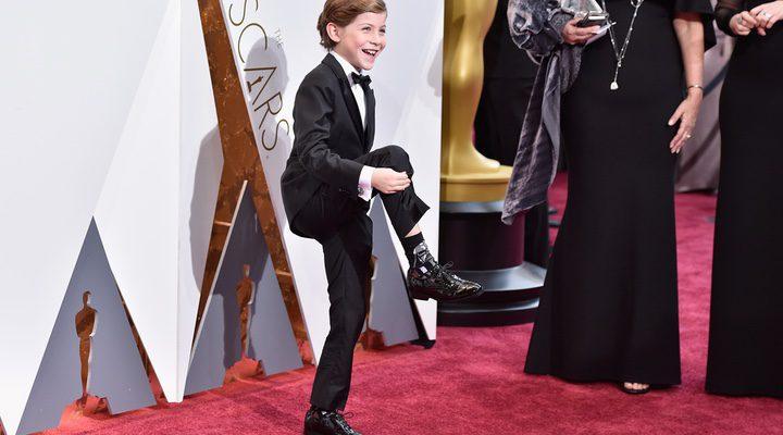 Jacob Tremblay alfombra roja Oscars