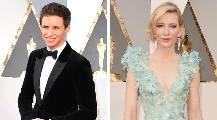 Eddie Redmayne y Cate Blanchett en los Oscar 2016