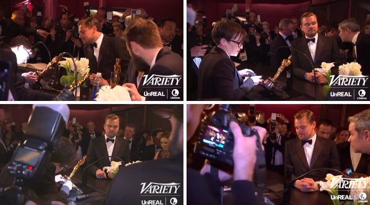 Leo DiCaprio espera por su Oscar
