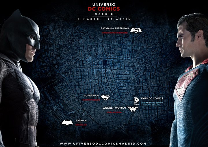 Mapa esculturas Universo DC Comics Madrid