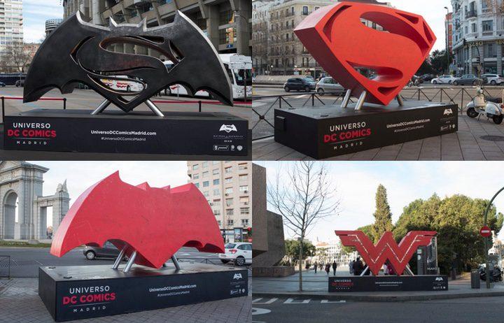 Emblemas Batman v Superman en Madrid