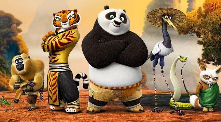 Los cinco maestros del Kung Fu y el Maestro Shi Fu en 'Kung Fu Panda 3'