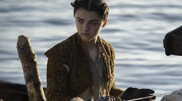 Arya durante un momento de la quinta temporada