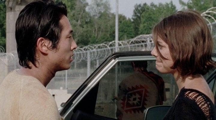 Glenn y Maggie en 'The Walking Dead'
