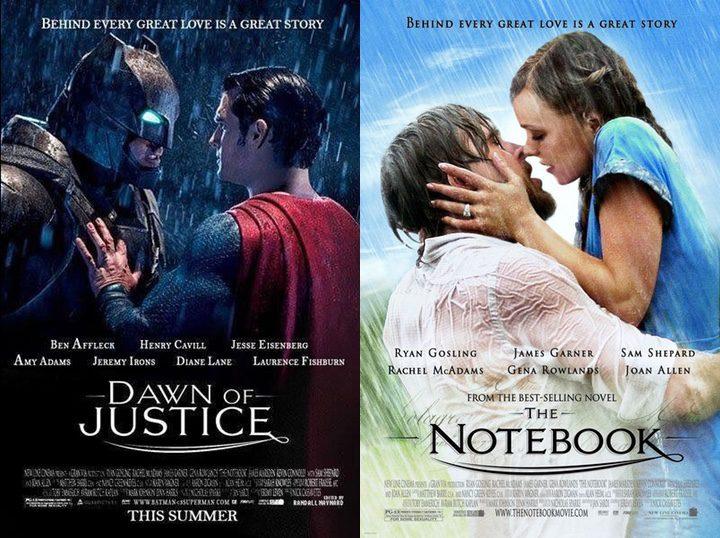 'Batman v Superman: El amanecer de la justicia' y 'El diario de Noa'