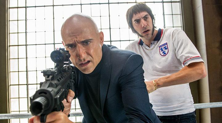 Mark Strong y Sacha Baron Cohen en 'Agente Contrainteligente'