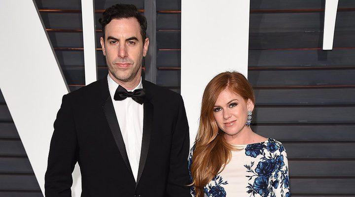 los actores Isla Fisher y Sacha Baron Cohen, marido y mujer
