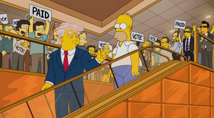 Trump Los Simpson