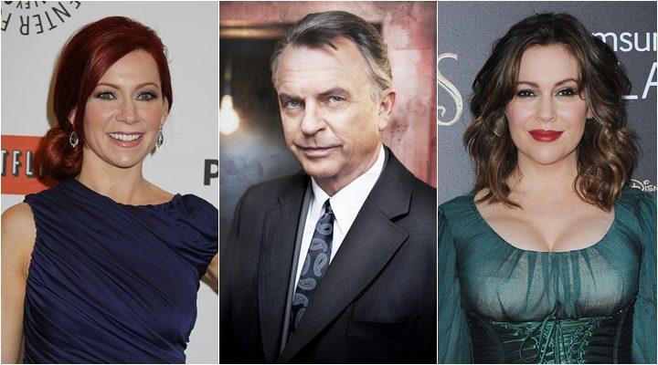 Sam Neill, Carrie Preston y Alyssa Milano