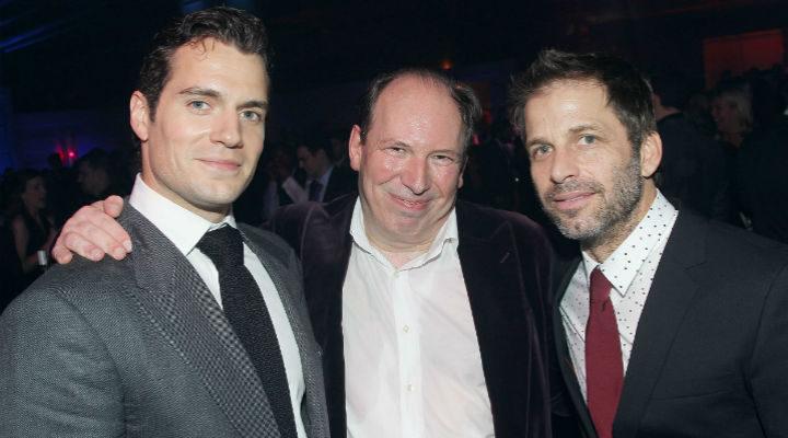 Hans Zimmer junto a Henry Cavill y Zack Snyder