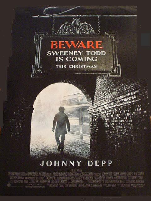 Nuevo teaser póster de 'Sweeney Todd'