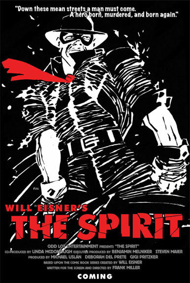 Primer cartel de 'The Spirit'